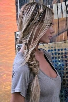 Messy Braided Hairstyles for Fall and Winter