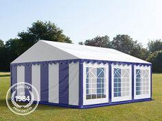 5x6 m Partyzelt, PVC blau-weiß - Profizelt24