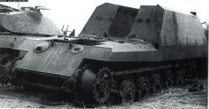 Hull of 17cm Kanone 72 (Sf) Geschutzwagen Tiger - German prototype of self-propelled gun with 17 mm cannon. Only hull with wheels was built.