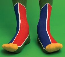 South Africa Football Happy Socks by Wong Wong