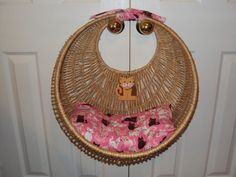 CAT BED Upcycled Hanging bed basket comfy lookout Sleeping bed. $35.00, via Etsy.