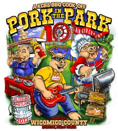 With the 10th Anniversary of Pork in the Park just three months away, we are excited to reveal our official artwork!  Visit www.PorkinthePark.org for more information!