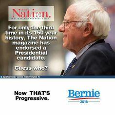 Bernie Sanders receives endorsement from progressive Nation!