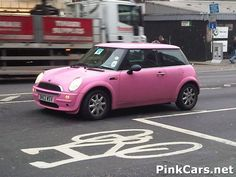 Pink.  Yes, I said Pink.  Mini Cooper.  or if you want to really go in style:  a Pink Mini Limo...