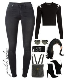 """""""30.01.17"""" by jamilah-rochon ❤ liked on Polyvore featuring Proenza Schouler, ALDO, 7 For All Mankind, Chanel and Ray-Ban"""