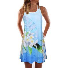 f814c4e16b4604 VEMOW Sommer Elegante Damen Frauen Lose Vintage Sleeveless 3D Blumendruck  Bohe Casual Täglichen Party Strand Urlaub