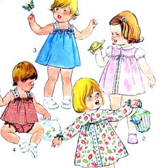 Simplicity 8495 Vintage Sewing Pattern Toddler Jumper Sundress Top Panties Size 3