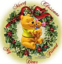 Pooh and Roo - Christmas Wreath Roo Winnie The Pooh, Winnie The Pooh Christmas, Winne The Pooh, Winnie The Pooh Quotes, Pooh Bear, Disney Christmas, Christmas Art, Xmas, Eeyore
