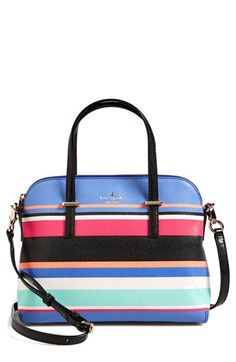 kate spade new york 'cedar street stripe - maise' satchel available at #Nordstrom