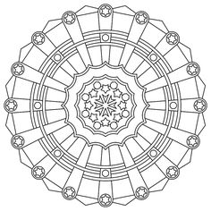 5 & 6 pointed stars  Printable Mandala