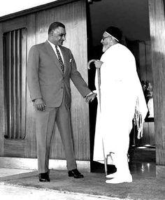 الزعيم جمال عبد الناصر والملك ادريس السنونسي