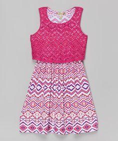 Look at this #zulilyfind! Fuchsia & Coral Popover Short Dress by Speechless #zulilyfinds