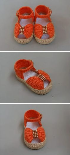Click the image to get your Crochet Baby Bow Shoes Pattern! Crochet Baby Boots, Crochet Baby Sandals, Crochet Baby Clothes, Crochet Shoes, Crochet Slippers, Booties Crochet, Baby Booties, Baby Bloomers Pattern, Baby Shoes Pattern