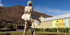 Marilyn Monroe statue in Palm Springs, California. #junitedstates - More on: http://junitedstates.com/palm-springs-desert/