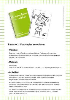 Recurso 2: Fotocopias emociones English Activities For Kids, Sistema Solar, Yoga For Kids, Play Therapy, Emotional Intelligence, Mindfulness, Teacher, Education, School