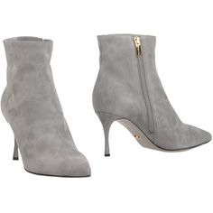 Sergio Rossi Ankle Boots (325 NZD) ❤ liked on Polyvore featuring shoes, boots, ankle booties, grey, gray boots, ankle boots, leather booties, short boots and gray booties