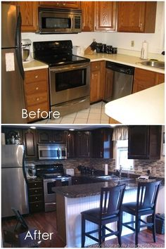 Frankfully: Guest Post: Fool-Your-Friends Fake Granite Countertops for $150