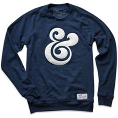 Ampersand Crewneck (Navy) from Ugmonk - I will wear mine til it disintegrates, so comfy Cool Shirts, Tee Shirts, Crew Neck Sweatshirt, Graphic Sweatshirt, Graphic Tees, Sharp Dressed Man, Sweater Weather, Men Dress, What To Wear