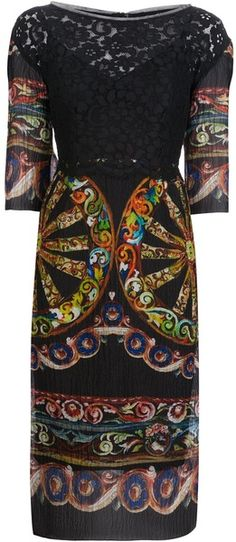 Dolce & Gabbana Lace Embroidered Dress - Lyst