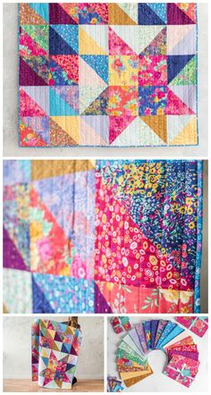 Star Light Star Bright Madison Park Quilt Kit by Craftsy. Scrappy star quilt pattern. Layer cake friendly quilt pattern. Affiliate link.