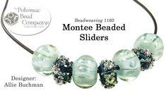 Montee Beaded Sliders (Beaded bead tutorial for necklaces.bracelets)
