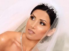 For olive colored brides, natural look with a soft lip looks gorgeous!