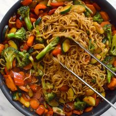 This ramen stir fry doctors up packaged ramen noodles with a rainbow of fresh vegetables and an easy stir fry sauce made from pantry staples. This recipe is super adaptable to whatever veggies you have on hand and makes a great weeknight dinner. Tasty Vegetarian Recipes, Vegan Dinner Recipes, Vegan Dinners, Veggie Recipes, Whole Food Recipes, Healthy Recipes, Soup Recipes, Easy Vegitarian Dinner Recipes, Health Food Recipes