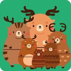 Matryoshka dear マトリョーシカ!#animal #dear #鹿 #matryoshka #doll #illustration #illustagram #art #artwork #絵 #イラスト #cute #kawaii #かわいい