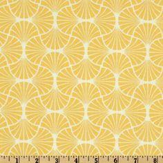 Joel Dewberry Heirloom Empire Weave Dandelion - Discount Designer Fabric - Fabric.com