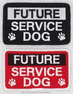 Future-Service-Dog-Patch-2-5x4-assistance-Danny-LuAnns-Embroidery Autism Service Dogs, Service Dog Patches, Psychiatric Service Dog, Service Dog Training, Military Service, Dog Supplies, My Passion, Therapy, Dog Things