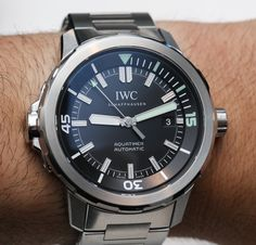 """IWC Aquatimer Automatic Watches For 2014 Hands-On """"Many of you already know that IWC watches chose 2014 to be the year of the Aquatimer. That means a revisit and reinvention of their popular dive watch collection with a focus on what has worked in the past while trying to set aside what hasn't been as effective..."""" #ablogtowatchSIHH2014"""