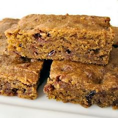 Blueberry and Cranberry Pumpkin Bars Recipe - 3 Point Total - LaaLoosh
