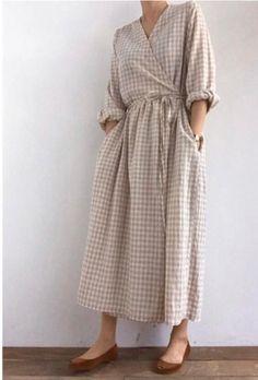 Linen Dresses, Modest Dresses, Maxi Dresses, Wrap Dresses, Cotton Dresses, Modest Fashion, Fashion Dresses, Skirt Mini, Inspiration Mode