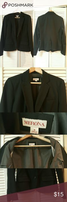 Black Blazer Good condition  Size Medium  Classic fit Merona Jackets & Coats Blazers