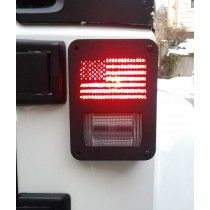 """U.S. Flag"" Jeep Wrangler jk model tail light guards by Dnajeep, Inc."