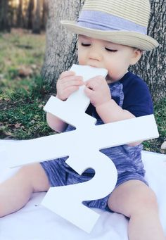 1/2 prop sign from Etsy for Cash's 6 month pictures
