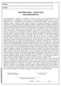 Click Educativo - Educação Infantil: Relatórios Avaliativos
