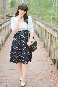 Different Colors by Curious Natalia| Asos Dress, Modcloth Heels, Pepaloves Bag, Forever 21 Skirt