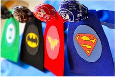 It is usually a bit harder coming up with Valentine's gifts from boys. This would also be great for a hero themed birthday party as well. Little Bit Funky: 20 minute crafter-Superhero Valentines (with FREE printable) Homemade Valentines, Valentine Day Crafts, Be My Valentine, Valentine Ideas, Valentines Food, Batman Valentine, Valentine Party, Superhero Birthday Party, Boy Birthday