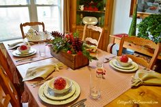 Winterberry Tablescape and a Giveaway! - Cottage at the Crossroads