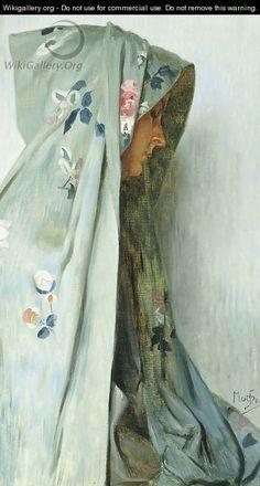 Solitude - Alphonse Maria Mucha.  Oil on Canvas