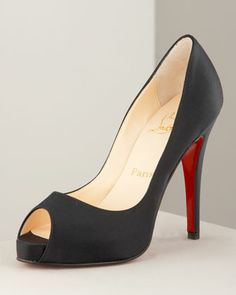 Very Prive Satin Platform Pump by Christian Louboutin at Neiman Marcus. Simply Gorgeous for $845.00!
