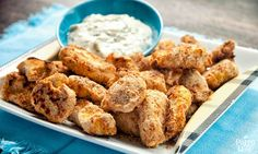 """Chicken nuggets, minus the """"pink slime"""" mystery meat, the rancid seed oils, and the flour: a delicious special-occasion lunch or party food."""