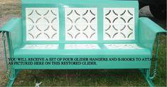 Retro Vintage Metal Porch Glider Parts Retro Vintage Metal Porch Glider Parts - Mobilier de Salon White Patio Furniture, Outdoor Furniture Plans, Retro Vintage, Vintage Porch, Art Deco Furniture, Retro Furniture, Furniture Stores, Small Furniture, Cheap Furniture