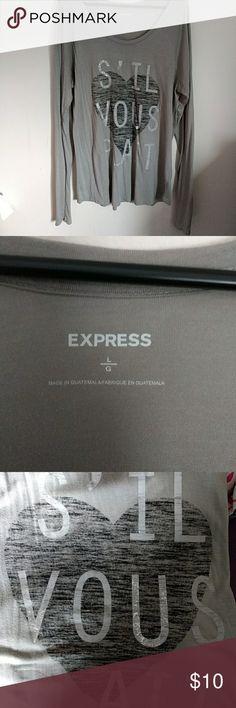 Express Long Sleeve Shirt GUC Express long sleeve shirt GUC Express Tops Tees - Long Sleeve