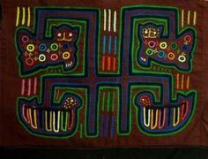 Kuna Indian Hand Stitch Kitty Cat Mola-Panama 16060903L | eBay