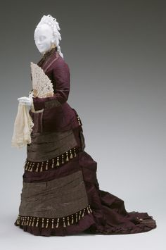 Afternoon dress by House of Dumonteui, 1876-1879 France, the Mint Museum