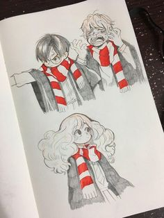 Harry Potter c'est la vie Arte Do Harry Potter, Harry Potter Drawings, Harry Potter Anime, Harry Potter Fandom, Cute Drawings, Drawing Sketches, Drawing Ideas, Desenhos Harry Potter, Arte Sketchbook