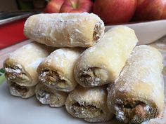 Sour cream rolls with plum jam - thermomix - Nutella recipes Nutella Recipes, Raw Food Recipes, Sweet Recipes, Dessert Recipes, Cooking Recipes, Sour Cream, Plum Jam, Food Tags, Vegetable Drinks