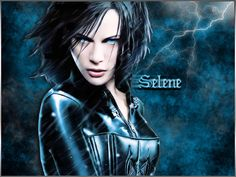 Kate Beckinsale ✾ Selene from Underworld Underworld Selene, Underworld Movies, Misfits Characters, Underworld Kate Beckinsale, Rhona Mitra, Choppy Bob Haircuts, Real Vampires, Movie Shots, Prettiest Actresses